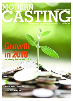 The cover of the January 2018 issue of Modern Casting